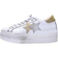 Schuhe Damen Sneaker Low 2 Stars 2053 Multicolore