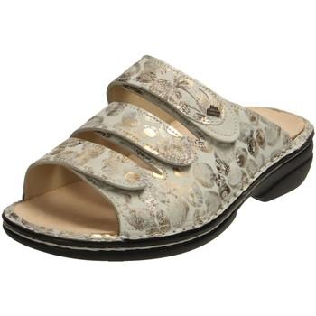 Schuhe Damen Pantoffel Finn Comfort Pantoletten Kos 2554 902096 2554-902096 grau