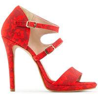 Schuhe Damen Sandalen / Sandaletten Made In Italia - iride Rot