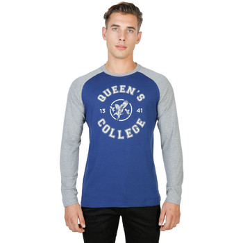 Kleidung Herren Langarmshirts Oxford University - queens-raglan-ml Blau