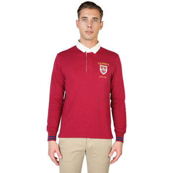 Kleidung Herren Langärmelige Polohemden Oxford University - queens-polo-ml Rot