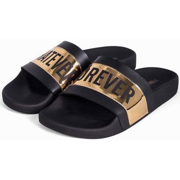 Schuhe Herren Pantoletten Thewhitebrand Whatever gold Schwarz