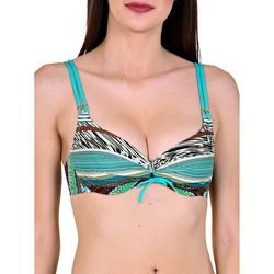 Kleidung Damen Bikini Ober- und Unterteile Lisca Freetown  Bügel-Badeanzug Top Dunkelgrün