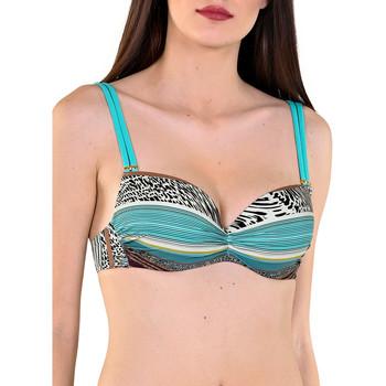 Kleidung Damen Bikini Ober- und Unterteile Lisca Vorgeformtes Badeanzug-Top von Freetown Dunkelgrün