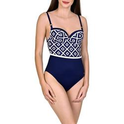 Kleidung Damen Badeanzug Lisca 1-teiliger vorgeformter Badeanzug Costa Rica blau Blau