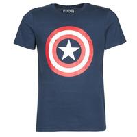Kleidung Herren T-Shirts Yurban CAPTAIN AMERICA LOGO Marine