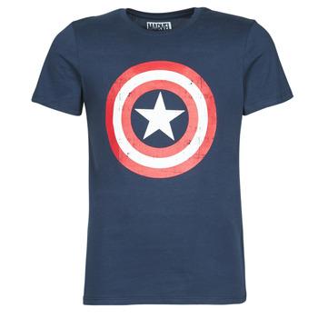 Kleidung Herren T-Shirts Casual Attitude CAPTAIN AMERICA LOGO Marine