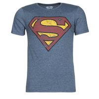 Kleidung Herren T-Shirts Yurban SUPERMAN LOGO VINTAGE Marine