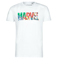 Kleidung Herren T-Shirts Yurban MARVEL HERO LOGO Weiss