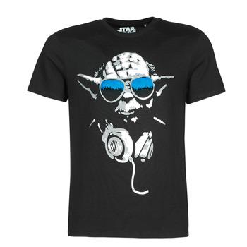 Kleidung Herren T-Shirts Yurban DJ YODA COOL Schwarz