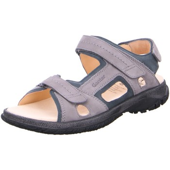 Schuhe Herren Sportliche Sandalen Ganter Offene Sandale GIOVANNI 257122-6332 grau