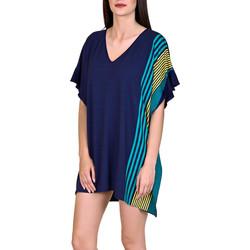 Kleidung Damen Tuniken Lisca Strandkaftan Dominica blau Blau