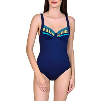 Kleidung Damen Badeanzug Lisca 1-teiliger kabelgebundener Badeanzug Dominica Blau