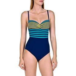 Kleidung Damen Badeanzug Lisca Dominica  1-teiliger vorgeformter Badeanzug Blau