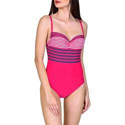 Kleidung Damen Badeanzug Lisca Dominica  1-teiliger vorgeformter Badeanzug Zartrosa