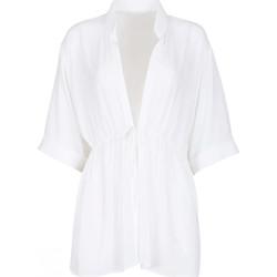 Kleidung Damen Tuniken Lisca Dreiviertelärmel-Strand-Tunika Navarra Beach Weiß