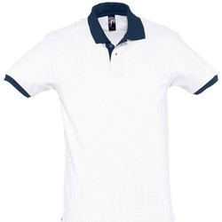 Kleidung Polohemden Sols PRINCE COLORS Blanco