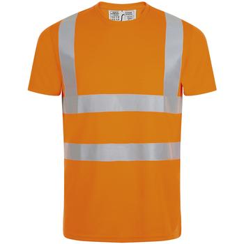 Kleidung Herren T-Shirts Sols MERCURE PRO VISIBLITY WORK Naranja