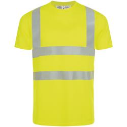 Kleidung Herren T-Shirts Sols MERCURE PRO VISIBLITY WORK Amarillo