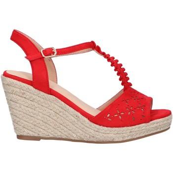 Schuhe Damen Leinen-Pantoletten mit gefloch Chika 10 NADIA 10 Rojo