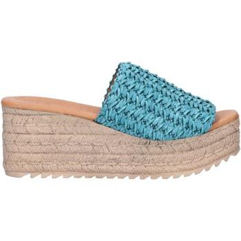 Schuhe Damen Leinen-Pantoletten mit gefloch Chika 10 EGIPTO 06 Azul