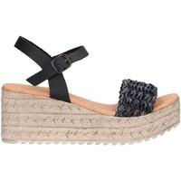 Schuhe Damen Leinen-Pantoletten mit gefloch Chika 10 EGIPTO 05 Negro
