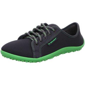 Schuhe Herren Sneaker Low Leguano Schnuerschuhe aktiv antra mit grüner sohle grau