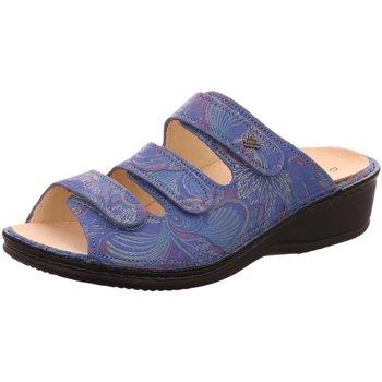 Schuhe Damen Pantoffel Finn Comfort Pantoletten Pisa 2501 657050 blau