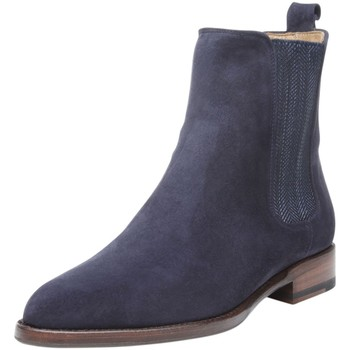 Schuhe Damen Boots Shoepassion Stiefeletten No. 2301 Navy