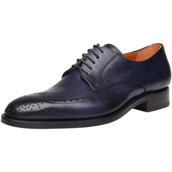 Schuhe Herren Derby-Schuhe Shoepassion Schnürschuhe No. 5438 Nachtblau
