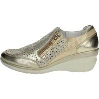 Schuhe Damen Slipper Riposella C212  Platin