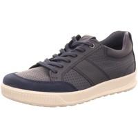 Schuhe Herren Sneaker Low Ecco Schnuerschuhe Schnürhalbschuh Byway 501564 50642 blau