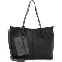 Taschen Damen Shopper / Einkaufstasche Emily & Noah Shopper Bag in Bag Surprise black grey 108D