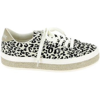 Schuhe Damen Sneaker Low No Name Malibu Twill Leopard Multicolor