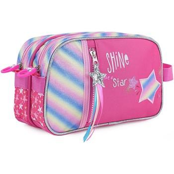 Taschen Mädchen Kosmetiktasche Skpat SHINE LIKE A STAR Stoff Fantasy Fuchsia