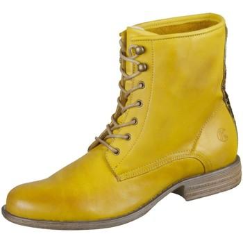 Schuhe Damen Boots Post Xchange Stiefeletten Jessy Jessy 990 Leder Jessy 990 gelb