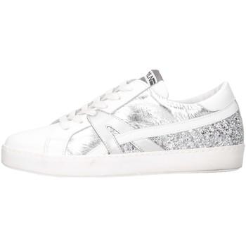 Schuhe Damen Sneaker Low Meline INC 1362 Weiß / Silber