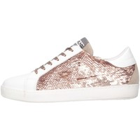 Schuhe Mädchen Sneaker Low Meline C-WEB-01352 Sneaker Kind Weiß / Pink Weiß / Pink