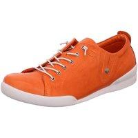 Schuhe Damen Sneaker Low Andrea Conti Schnuerschuhe 345724 044 orange