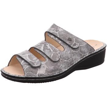 Schuhe Damen Pantoffel Finn Comfort Pantoletten 2501 637429 grau