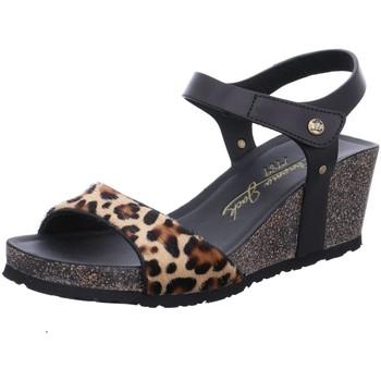 Schuhe Damen Sandalen / Sandaletten Panama Jack Sandaletten Victory Leopard B3 schwarz