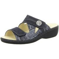 Schuhe Damen Pantoffel Longo Pantoletten 1044721 blau