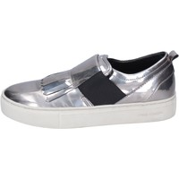 Schuhe Damen Slip on Crime London slip on kunstleder silber