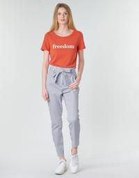 Kleidung Damen Chinohosen Vero Moda VMEVA Weiss / Grau
