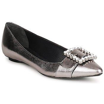 Schuhe Damen Ballerinas Marc Jacobs MJ19417 Silbern