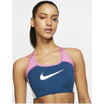 Kleidung Damen Sport BHs Nike Sport Medium Support 1-Piece Pad Sports Bra CJ5865-432 blau