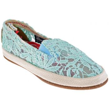 Schuhe Damen Leinen-Pantoletten mit gefloch O-joo Slip On turnschuhe