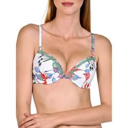Kleidung Damen Bikini Ober- und Unterteile Lisca Jamaika  Push-up-Badeanzug Top Weiß