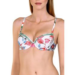 Kleidung Damen Bikini Ober- und Unterteile Lisca Jamaika  Vorgeformtes Badeanzug-Top Weiß