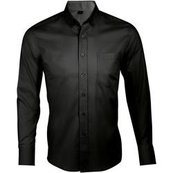 Kleidung Herren Langärmelige Hemden Sols BUSINESS MEN Negro